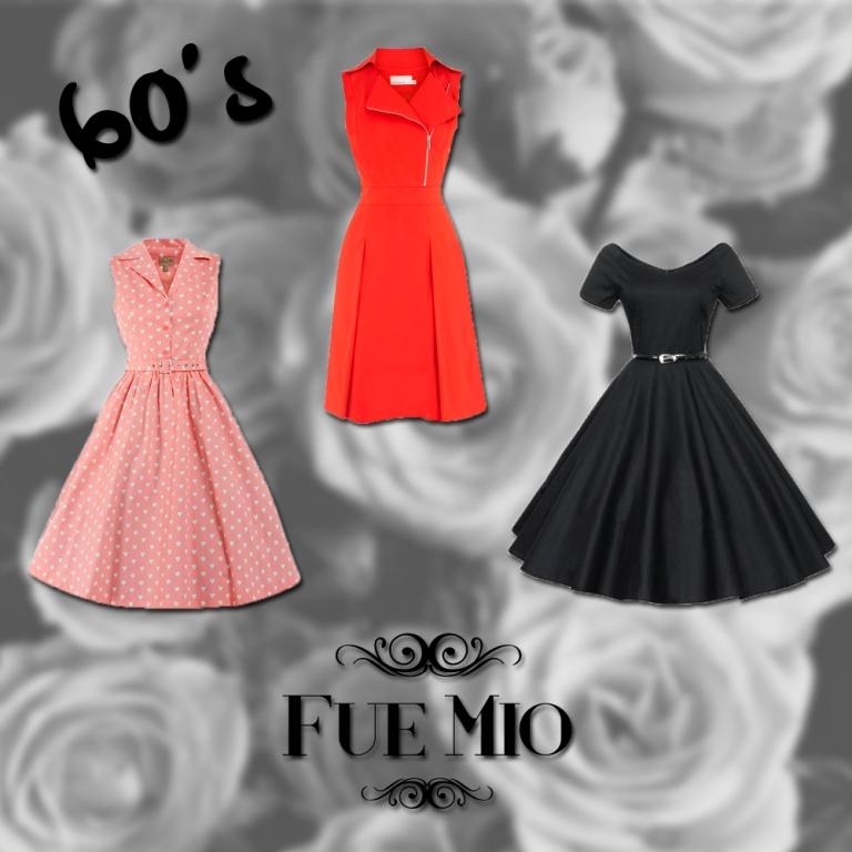 60s Colores En Los Vestidos Fue Mío
