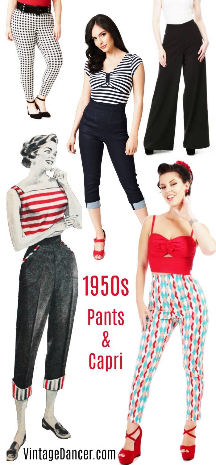 fue mio vintage años 50 pantalones