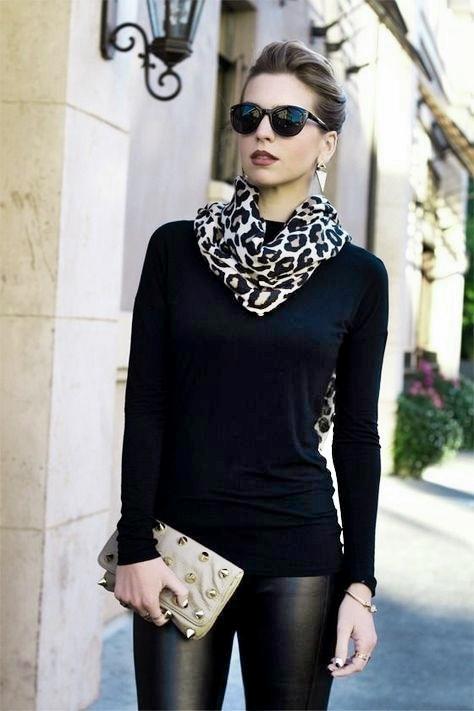 fuemio vintage clasicos moda pañuelo foulard animalprint