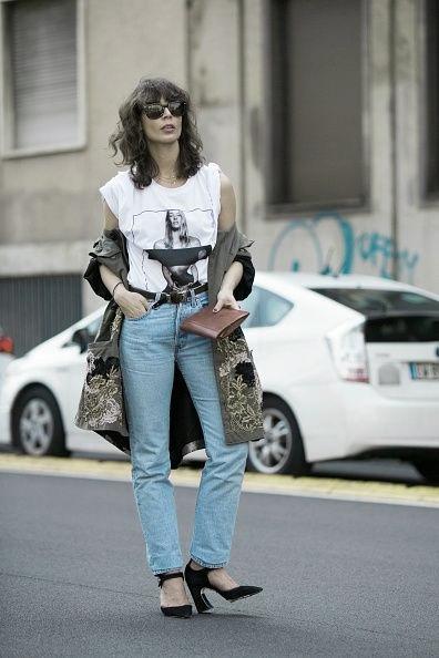 fuemio vintage clasicos moda pantalón jean