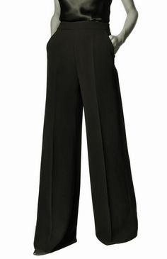 fuemio vintage clasicos moda pantalón ancho oxford