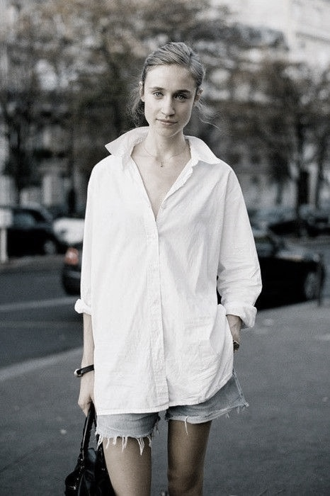 fuemio vintage camisa blanca