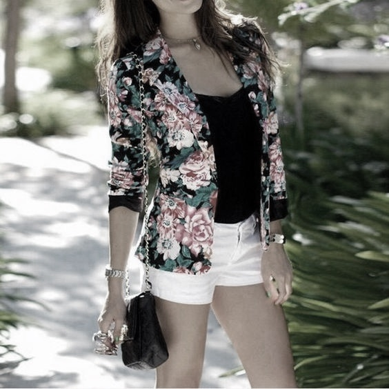 fuemio vintage blazer flores