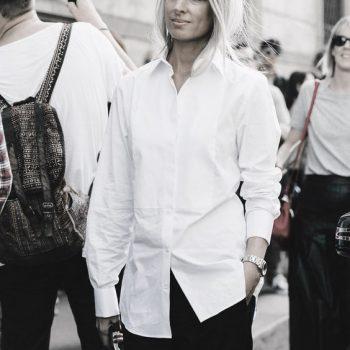 fuemio vintage camisa blanca moda