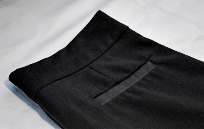 fue mio vintage costura union ropa negra