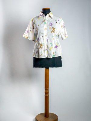 Camisa algodón estampa moños