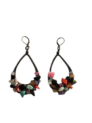 aros bronce cristales naturales