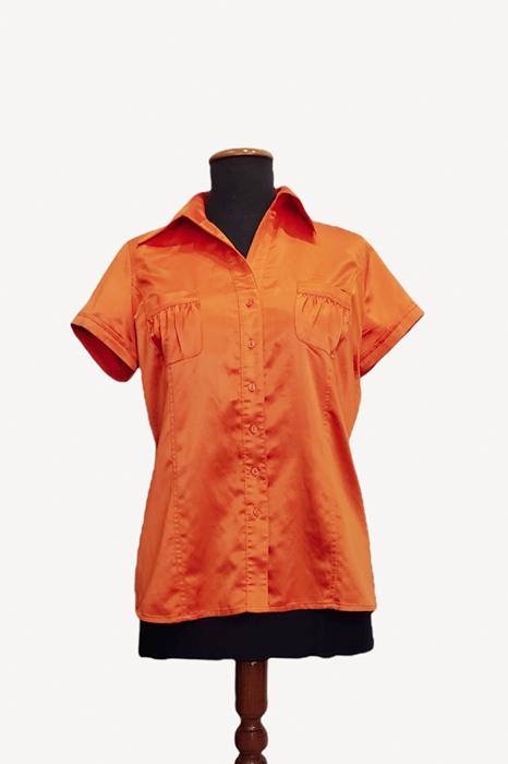 Camisa raso stretch entallada